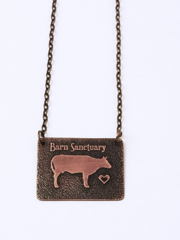 Barn Sanctuary Necklace Closeup