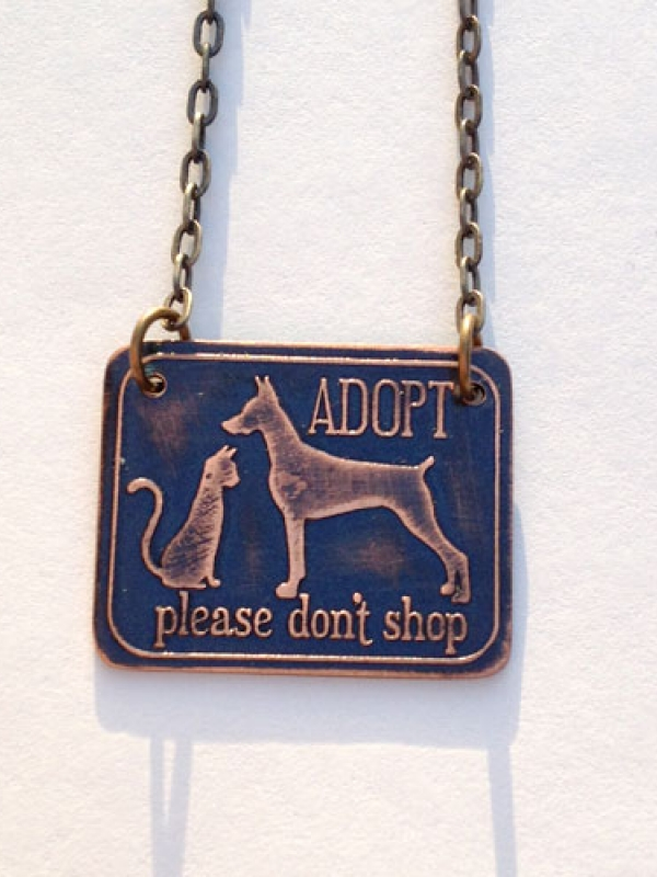 Adopt Don't Shop! Vegan/Animal Rights Inspired Necklace