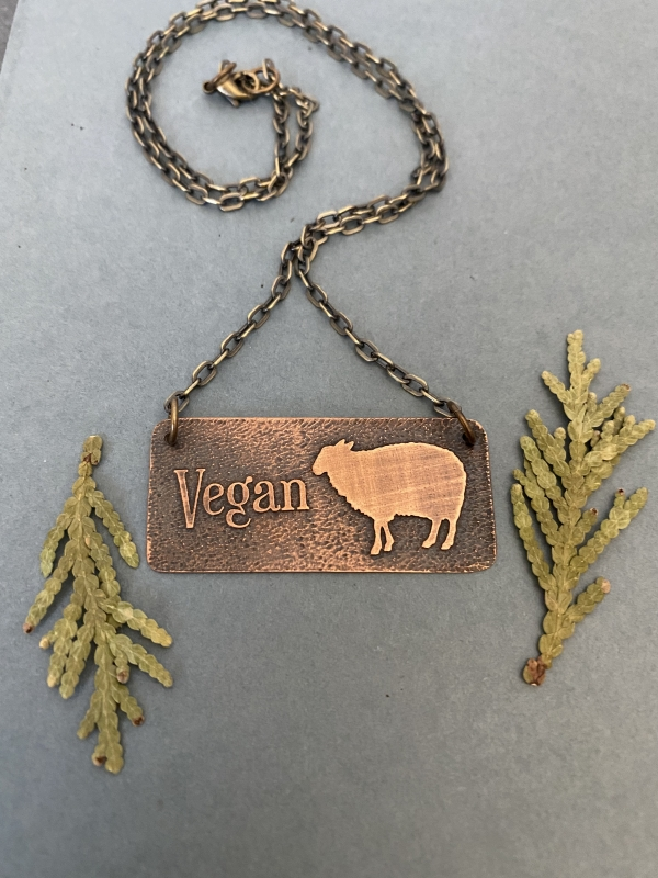 Vegan Sheep Necklace