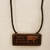 Vegan Cow Necklace