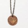 Etched Copper Vegan Heart Necklace