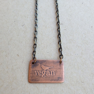 Vegan Bird Necklace