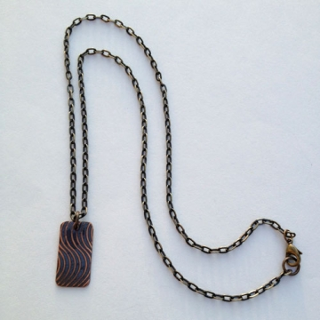 Wavy Fingerprint Necklace
